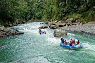 Rafting adventure tour through Central America Jungle