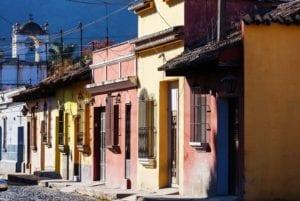 Street of Antigua Guatemala. Guatemala travel.