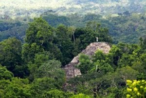The great Mayan City of El Mirador, Guatemala.