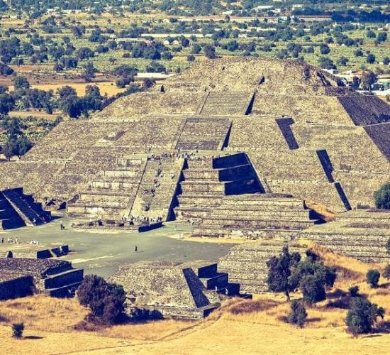 Pyramid of the Moon. Tehotihuacan. Mexico Guatemala Holiday Tour