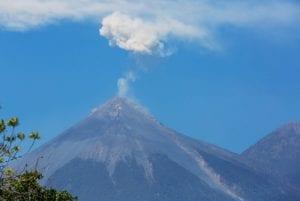 Amazing eruption in Volcano de Fuego, Guatemala.