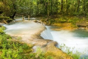 Waterfalls in Agua Azul, Chiapas, Mexico.