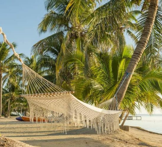 Beach in the Caribbean Sea. Belize Vacation Package