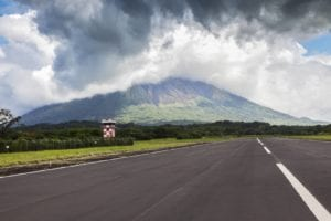Airport in Ometepe Island, Nicaragua. Travel to Ometepe Island, Nicaragua.