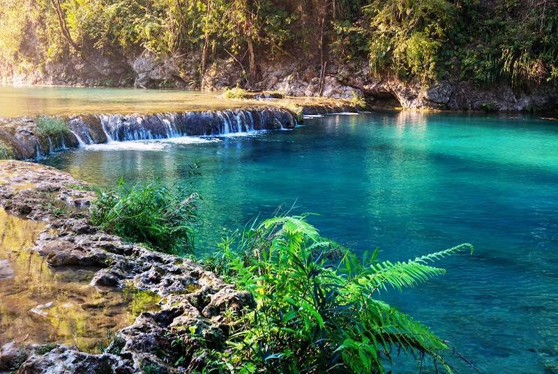 Natual pools in Semuc Champey, Guatemala. Guatemala Tours