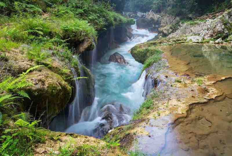 pools in Semuc Champey. Guatemala Tour Packages