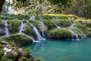 Natural pools in Semuc Champey, Guatemala. Guatemala tours