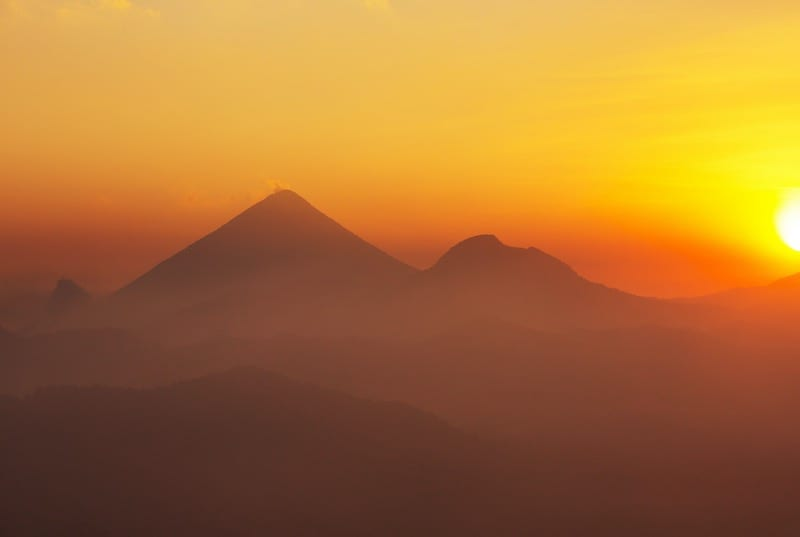 Volcano Santa Marica, Quetzaltenango, Guatemala. Hikes and treks.