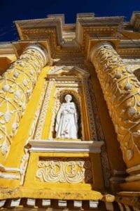 Beautiful Church of La Merced. Antigua Guatemala.