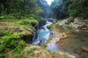 Beautiful natural pools in Semuc Champey, Guatemala, Central America. Guatemala Travel