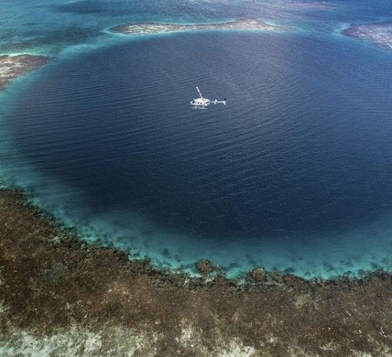 Aerial view, Blue Hole.,Aerial view, Blue Hole.