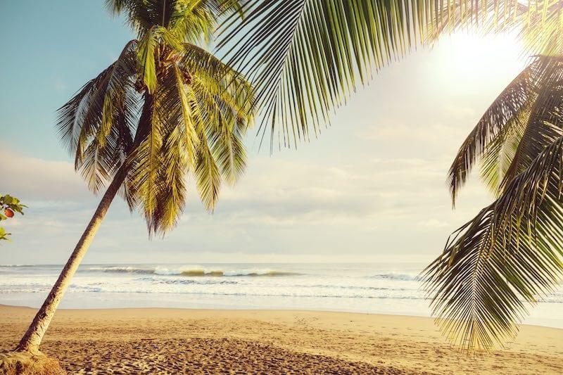 Amazing beach in the Pacific Ocean of Costa Rica.