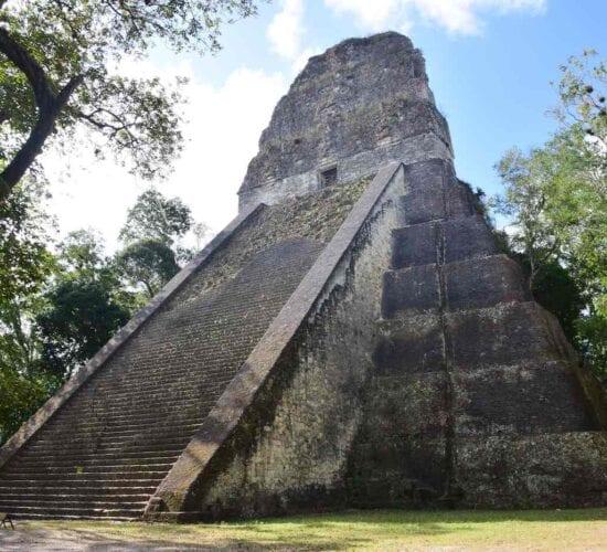 Temple V of the Mayan City of Tikal, Guatemala.