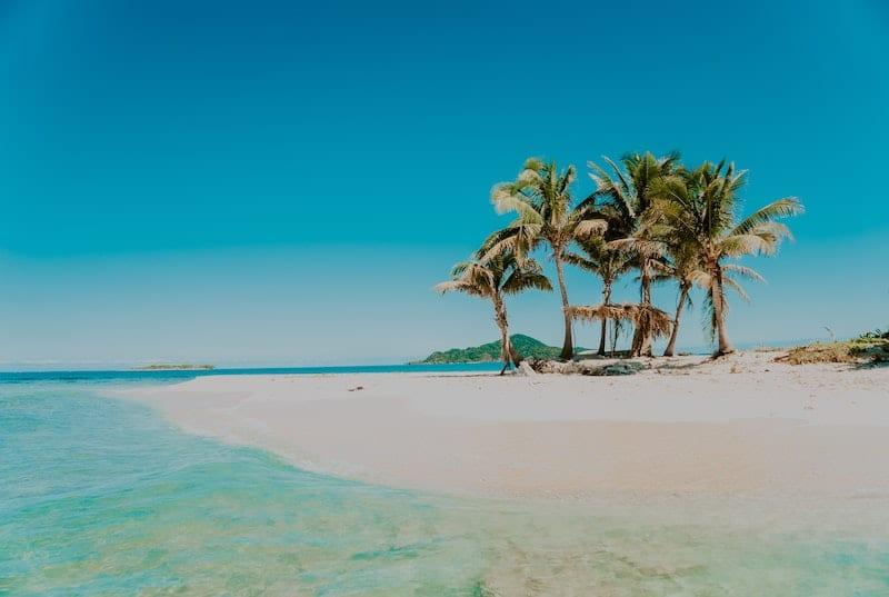 Beautiful island of Cayos Cochinos in the Caribbean barrier reef. Honduras