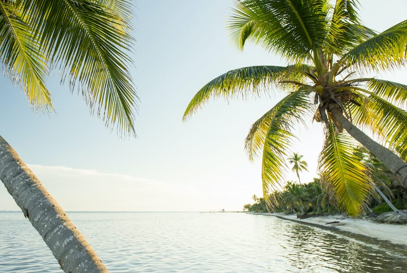 Tropical Caribbean beach destination of Ambergris Caye in Belize