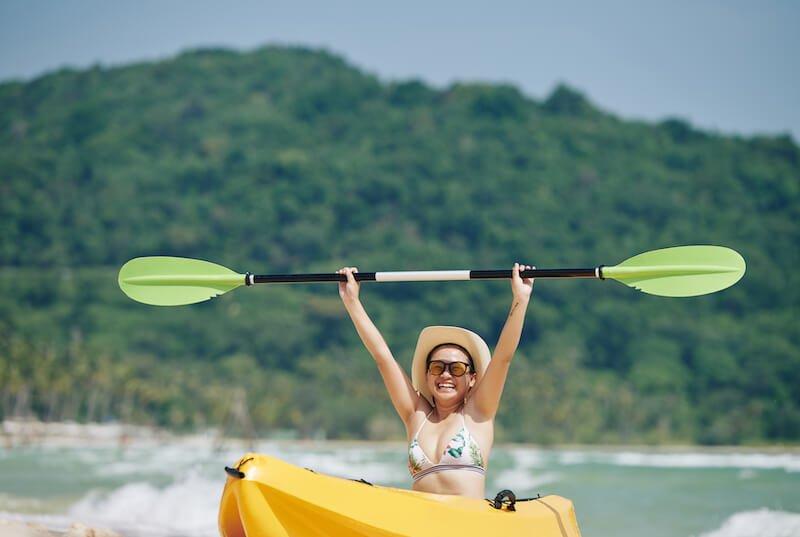 Kayaking in a Lake, Nicaragua.